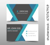 blue corporate business card ... | Shutterstock .eps vector #670767919