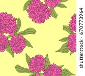 seamless pattern with pink...   Shutterstock .eps vector #670773964