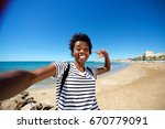 portrait of young african... | Shutterstock . vector #670779091