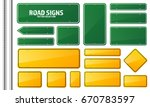 Road Traffic Sign. Blank Board...