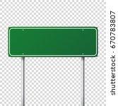 road traffic sign. blank board... | Shutterstock .eps vector #670783807