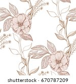 hand drawn seamless pattern... | Shutterstock .eps vector #670787209