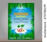 summer beach party design... | Shutterstock .eps vector #670788199