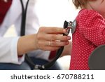 little child with stethoscope... | Shutterstock . vector #670788211
