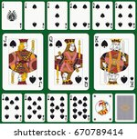 playing cards  spade suit ... | Shutterstock .eps vector #670789414