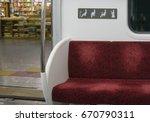 priority seat in metro subway ... | Shutterstock . vector #670790311