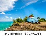 bali  indonesia  jimbaran beach ... | Shutterstock . vector #670791055