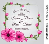 wedding invitation card suite... | Shutterstock .eps vector #670792321
