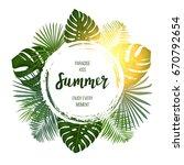summer tropical vector design...   Shutterstock .eps vector #670792654