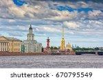 saint petersburg and river neva ... | Shutterstock . vector #670795549