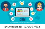 crm   customer relationship... | Shutterstock .eps vector #670797415