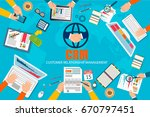 crm   customer relationship... | Shutterstock .eps vector #670797451