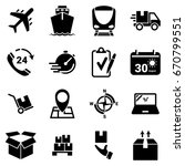 set of simple icons on a theme... | Shutterstock .eps vector #670799551