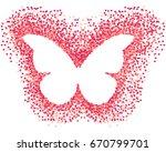 vector confetti splash in the... | Shutterstock .eps vector #670799701