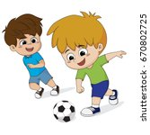 Kid Play Soccer With Friends...