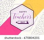vector illustration of happy... | Shutterstock .eps vector #670804201