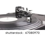 turntable with dj needle on... | Shutterstock . vector #67080970
