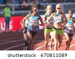 Small photo of STOCKHOLM, SWEDEN - JUNE 18, 2017: 3000 meters women at the track and field atletics in IAAF Diamond leauge Bauhaus Galan at Stockholm stadion.