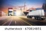 logistics import export... | Shutterstock . vector #670814851