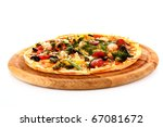Tasty Pizza With Olives...