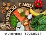 healthy hair concept. best... | Shutterstock . vector #670825387
