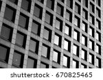 office building windows... | Shutterstock . vector #670825465