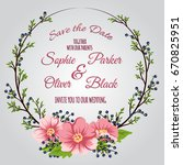 wedding invitation card suite... | Shutterstock .eps vector #670825951