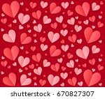 pink and red folded paper... | Shutterstock . vector #670827307