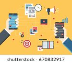 message in application on... | Shutterstock .eps vector #670832917