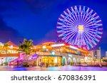 okinawa  japan at american... | Shutterstock . vector #670836391