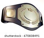 a championship belt made in 3d... | Shutterstock . vector #670838491