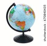 globe isolated on white... | Shutterstock . vector #670840435