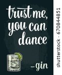 glass gin. vintage vector... | Shutterstock .eps vector #670844851