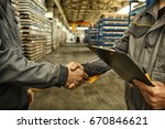 cropped close up of a worker... | Shutterstock . vector #670846621
