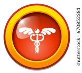 caduceus icon | Shutterstock .eps vector #670852381