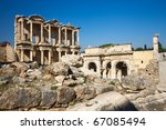 The Ruins Of Ephesus  Celsus...