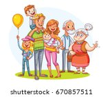 my big family together. family... | Shutterstock .eps vector #670857511