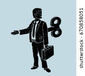 the clockwork officer robot... | Shutterstock .eps vector #670858051