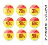 discount sale stickers... | Shutterstock .eps vector #670862905