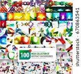 huge mega collection of 100...   Shutterstock .eps vector #670863541