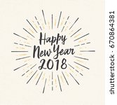 handmade style greeting card  ... | Shutterstock .eps vector #670864381