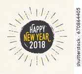 handmade style greeting card  ... | Shutterstock .eps vector #670864405