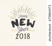 handmade style greeting card  ... | Shutterstock .eps vector #670864471