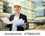 professional man in jacket and... | Shutterstock . vector #670866181