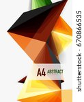 vector low poly style 3d... | Shutterstock .eps vector #670866535