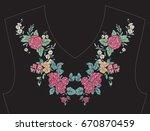 embroidery for neckline  collar ...   Shutterstock .eps vector #670870459