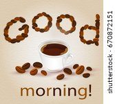 abstract background with coffee ... | Shutterstock .eps vector #670872151