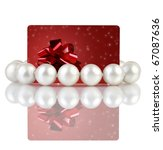 pearls with creative dark red... | Shutterstock . vector #67087636