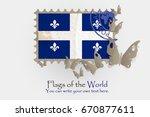 vector flag measurements with... | Shutterstock .eps vector #670877611