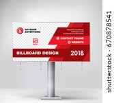 billboard banner design  red... | Shutterstock .eps vector #670878541